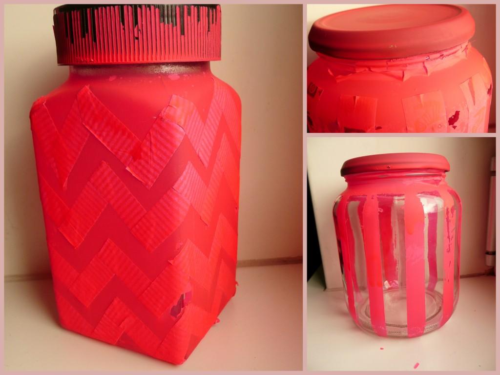 Voorraad potten met een gouden tint all lovely things - Hoe roze verf ...