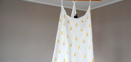 DIY ananas top, shirt, stempel, Pineappel tee, stamp,