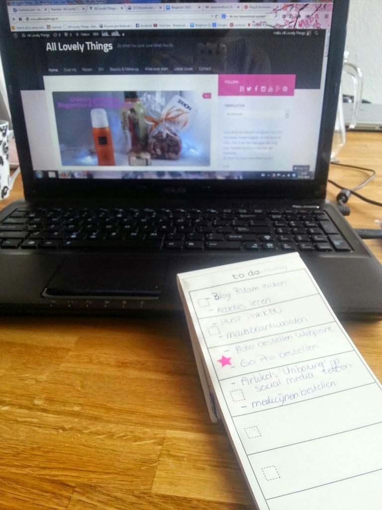 Blog dag to do list
