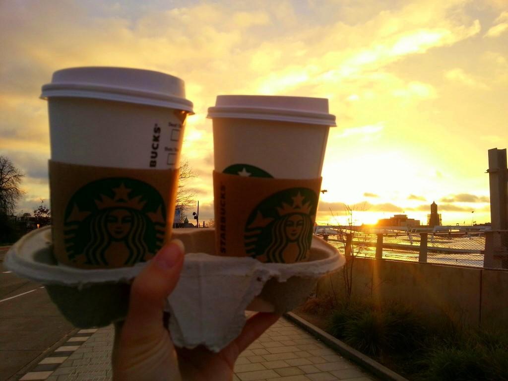 Starbucks zonsopgang diaryblog