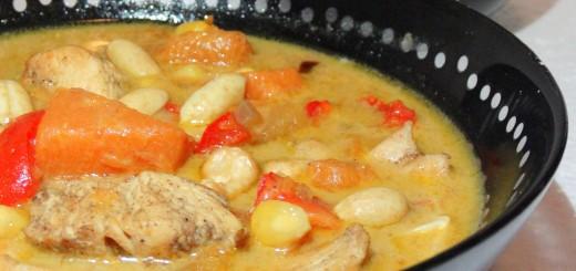 groene curry pompoen recept