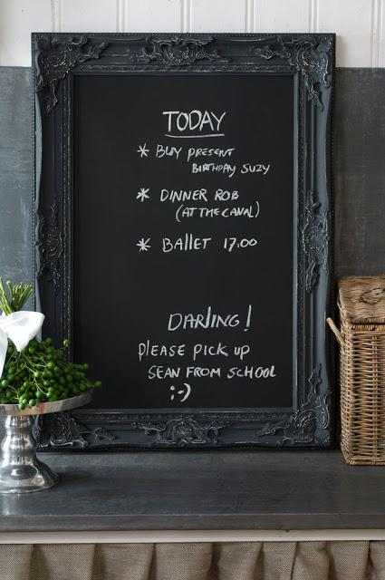 Krijtbord Keuken Riviera Maison : Black Chalkboard with Frame