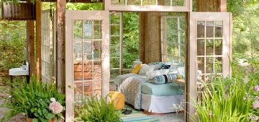 tuinhuis zitplek tuin inspiratie