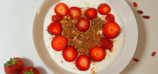 aardbeien met yoghurt