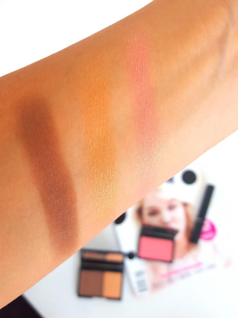 swatches sleek blush rose gold contour kit