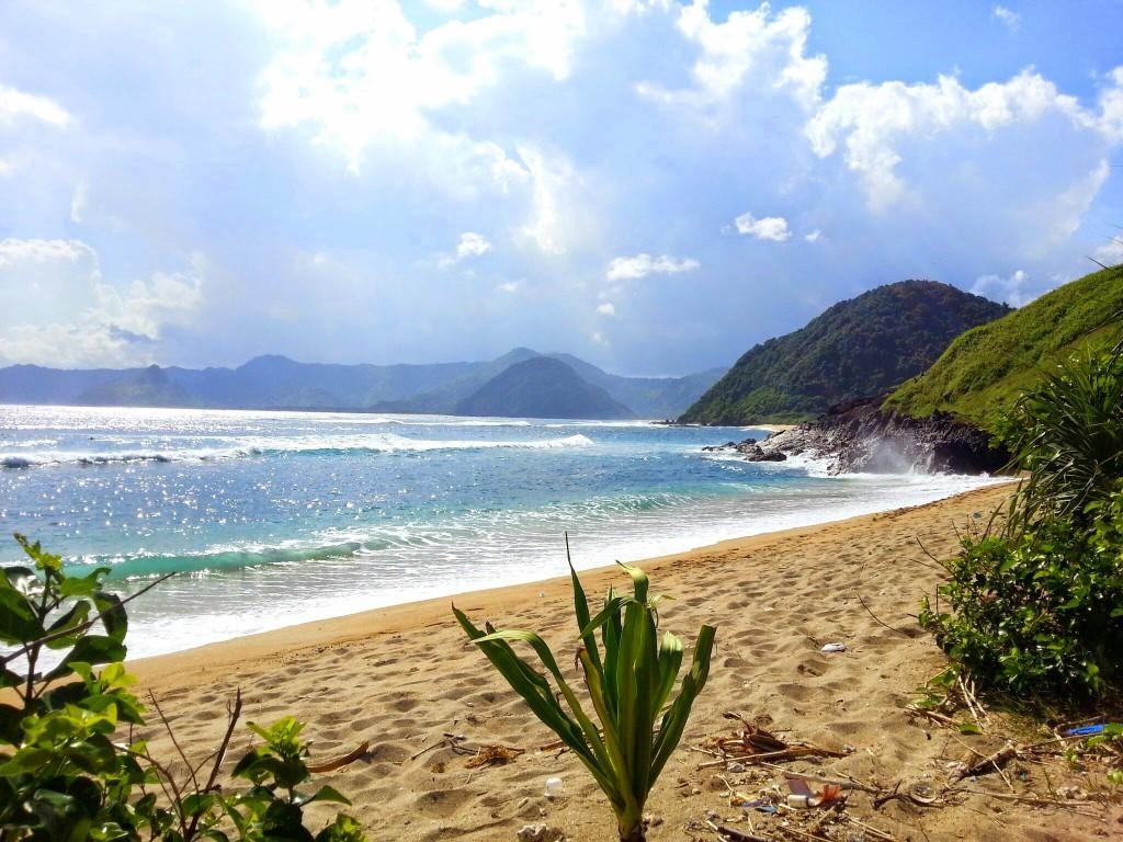 Mawi strand van kuta lombok Indonesie