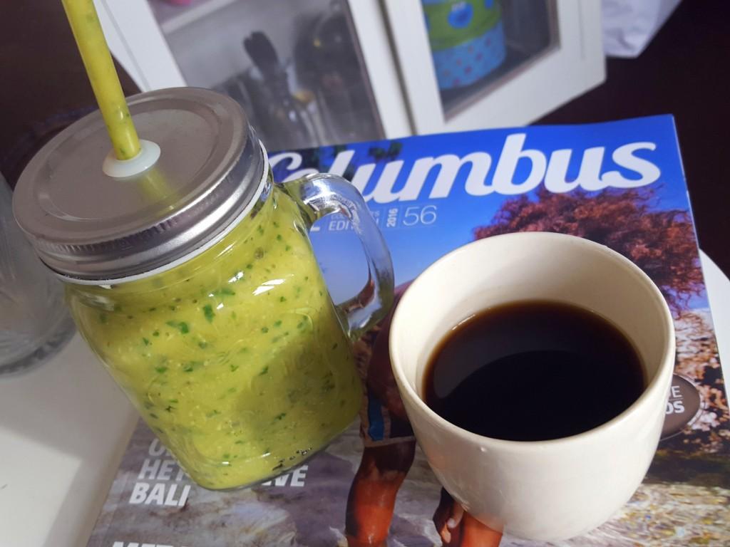columbus koffie en groene smoothie