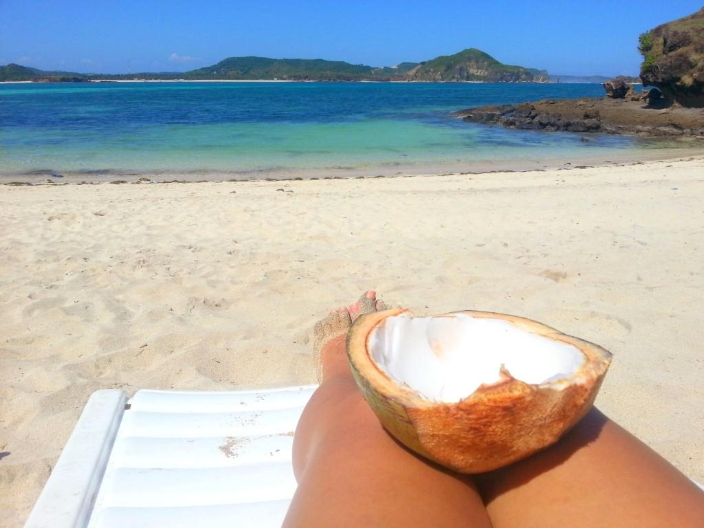 tanjung aan, fresh coconut