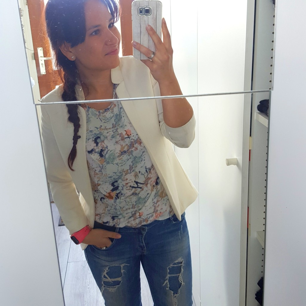 OOTD jas & jeans Mango top Only
