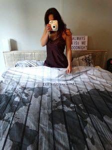 wereldkaart dekbed living comfort textiel