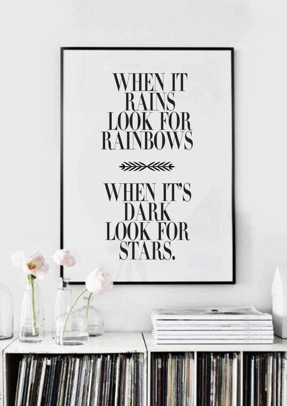 positief zijn quotes rainbow
