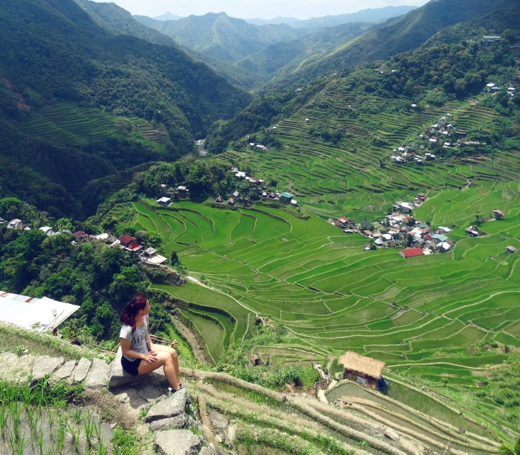 hiken door de rijstvelden van batad filipijnen