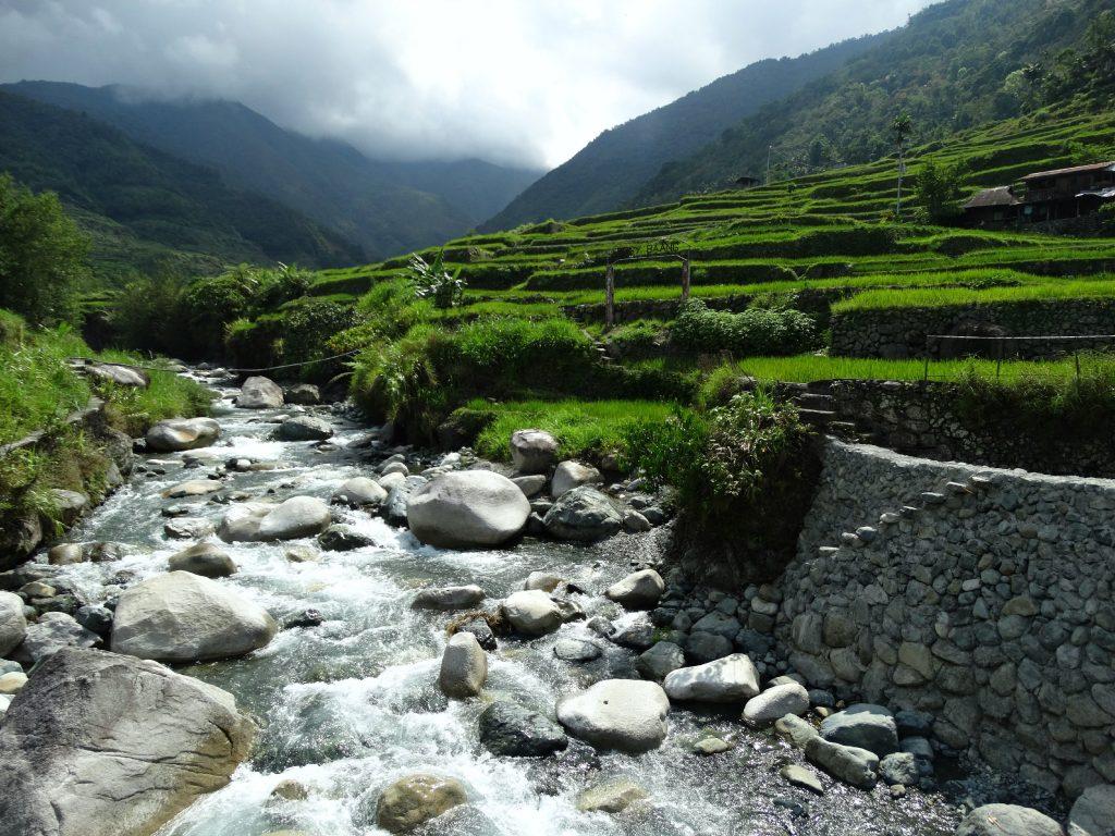 hiken door de rijstvelden van hapao filipijnen