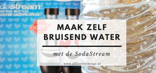 zelf bruisend water maken met sodastream