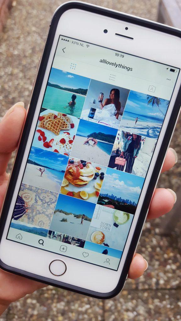 mobiele telefoon instagram