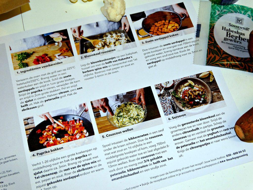 marley spoon box recepten stap voor stap