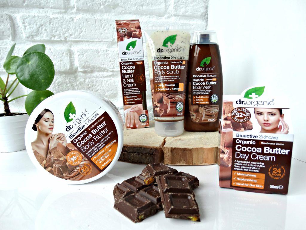 dr organic cocoa butter verzorgingslijn