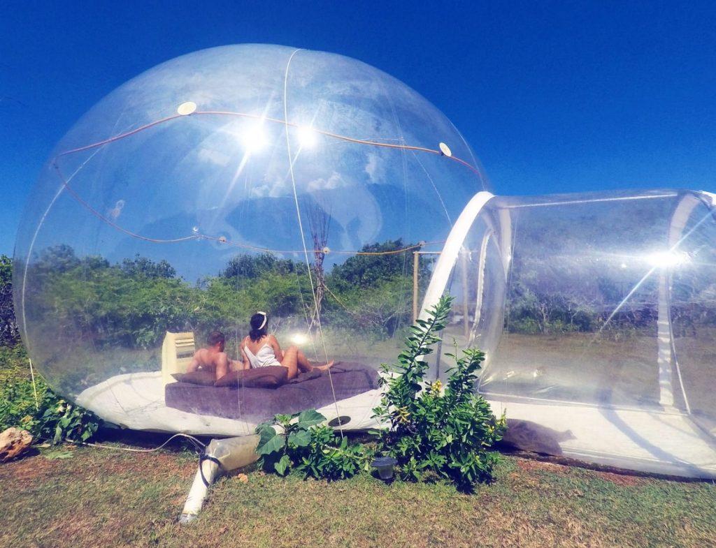 bubble hotel bali vriend bijzondere overnachting indonesie reizen