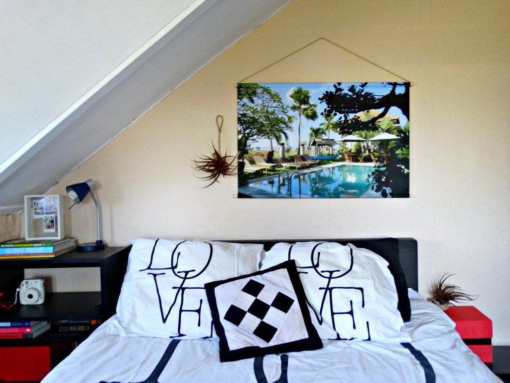 slaapkamer mancave make over foto op textielposter interieur home