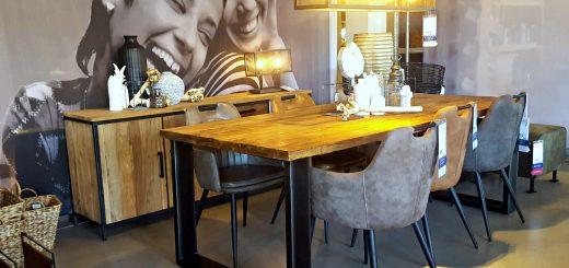 robuuste tafel lamp eettafel industriele tafel woonkamer inrichten