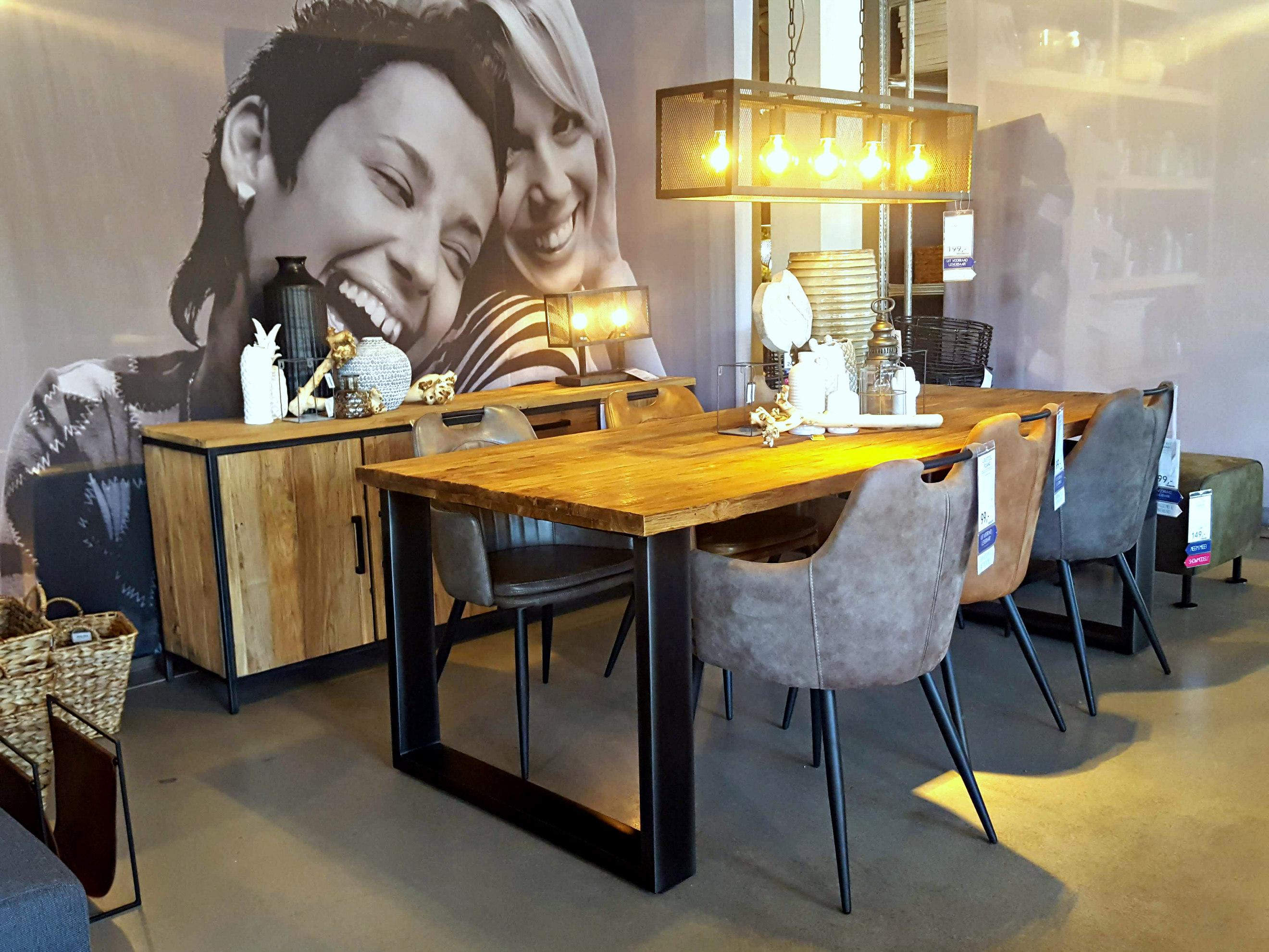 Robuuste tafel lamp eettafel industriele tafel woonkamer Woonkamer tafel