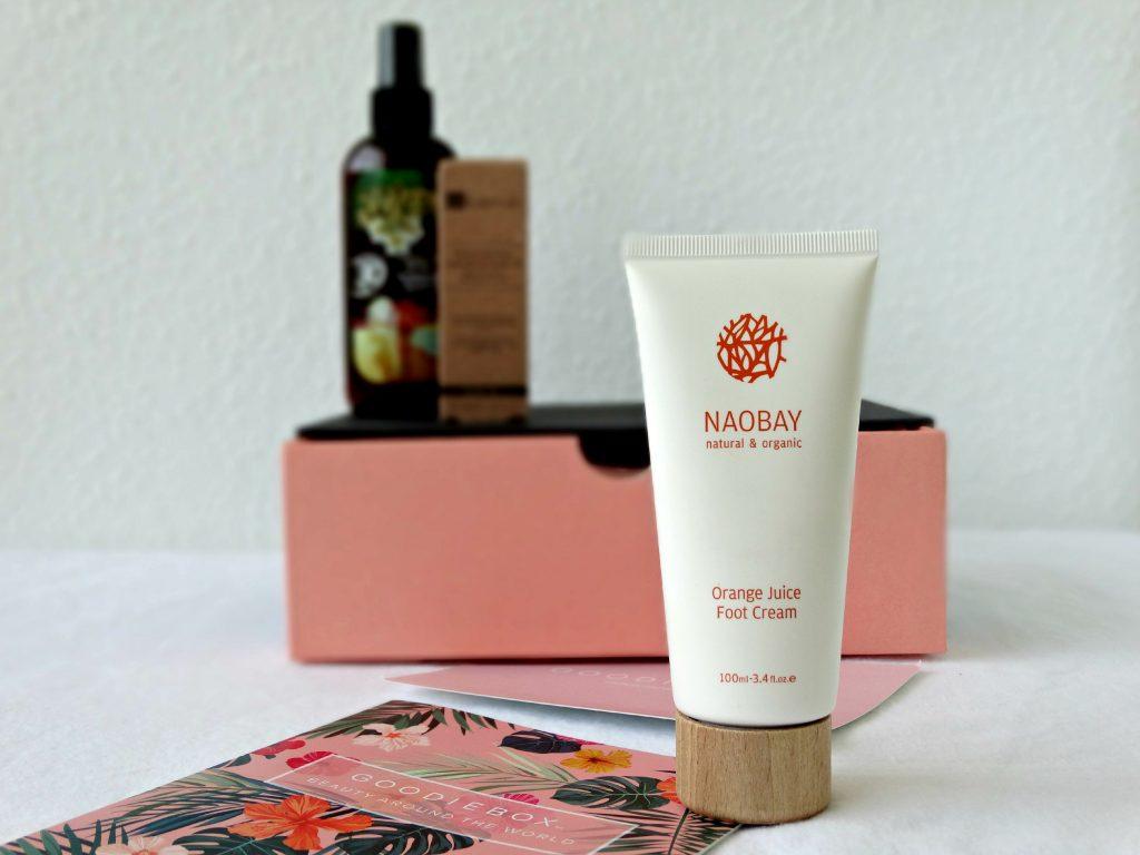 naobay voetencreme sinaasappel goodiebox lichaamsverzorging