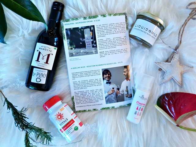 jouwbox feestdagen liquid gold wijn vitals vitamine rosalpina creme