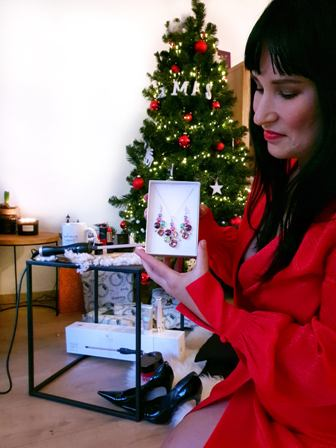 spark silver jewerly swarovski winactie kerst outfit