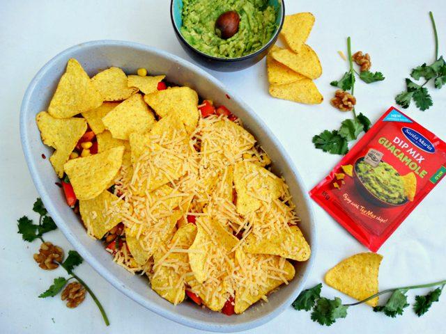 vega nachoschotel recept guacamole linzen