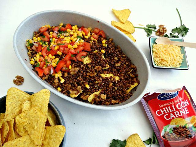 vegetarische nachoschotel recept tex mex