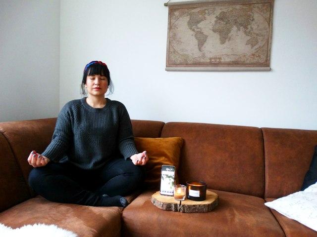 mediteren calm app balans rusten genieten van kleine dingen