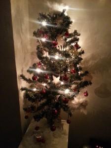 De mini kerstboom, maar ik heb een kerstboom
