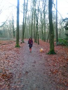 Lekker wandelen in het bos met Prince
