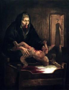 Grýla op haar engst, door Þrándur Þórarinsson