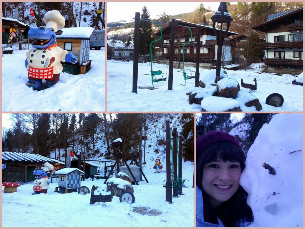 Verlaten speeltuin en een selfie met Frosty