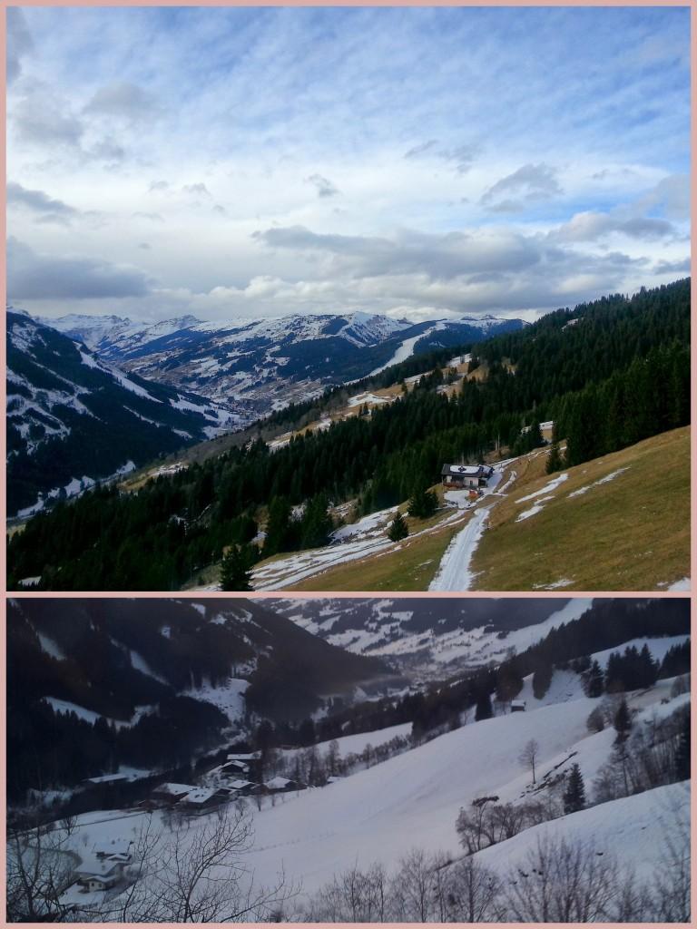 Verschil tussen van sneeuw op de bergen december 2013 en 2012