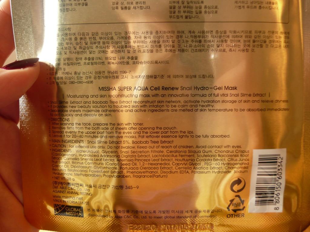 De gebruiksaanwijzing en ingrediënten