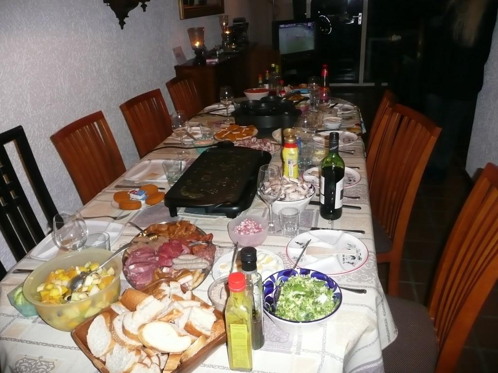 Gourmetten met het hele gezin