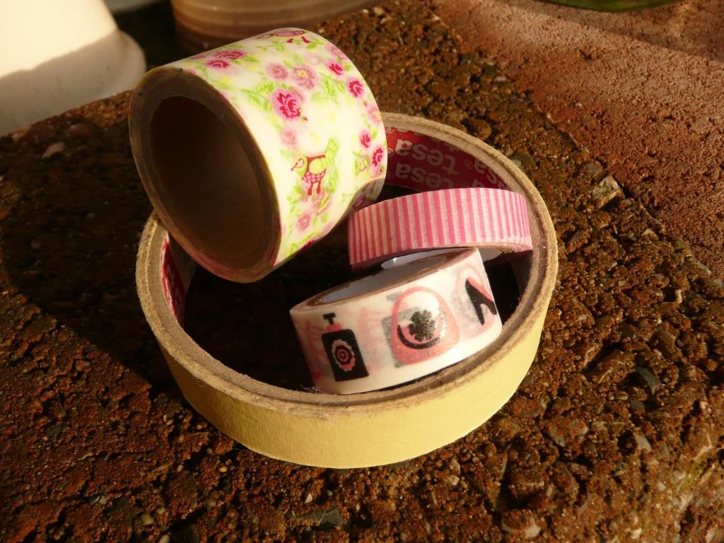 Verschillende soorten en maten (washi) tape