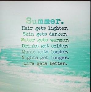 Summer love, alleen mijn haar word niet lichter