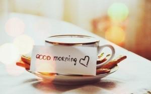 Heerlijk wakker worden met een goed kopje koffie