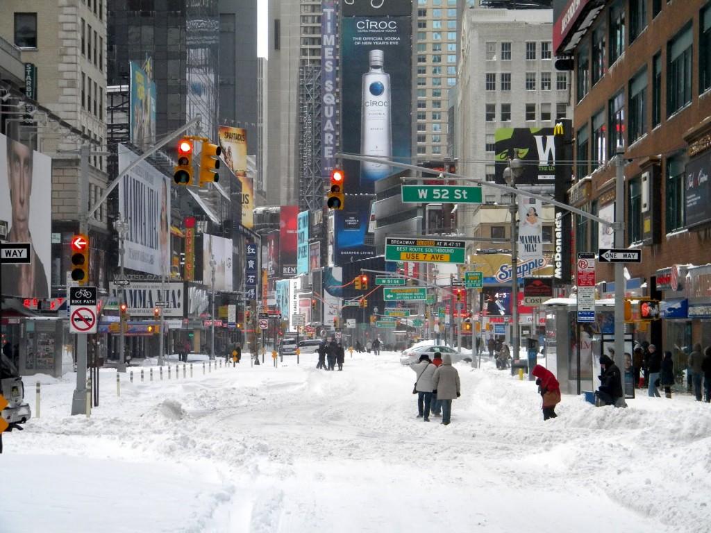 New York in de sneeuw