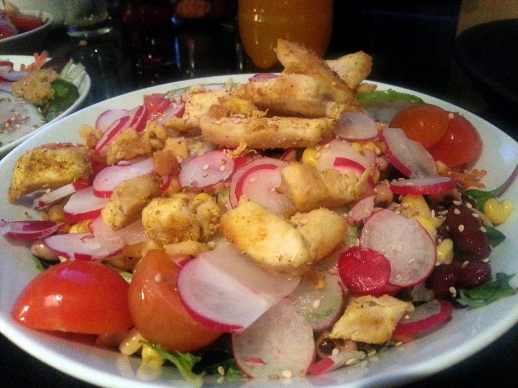 Gezonde salade als avondeten