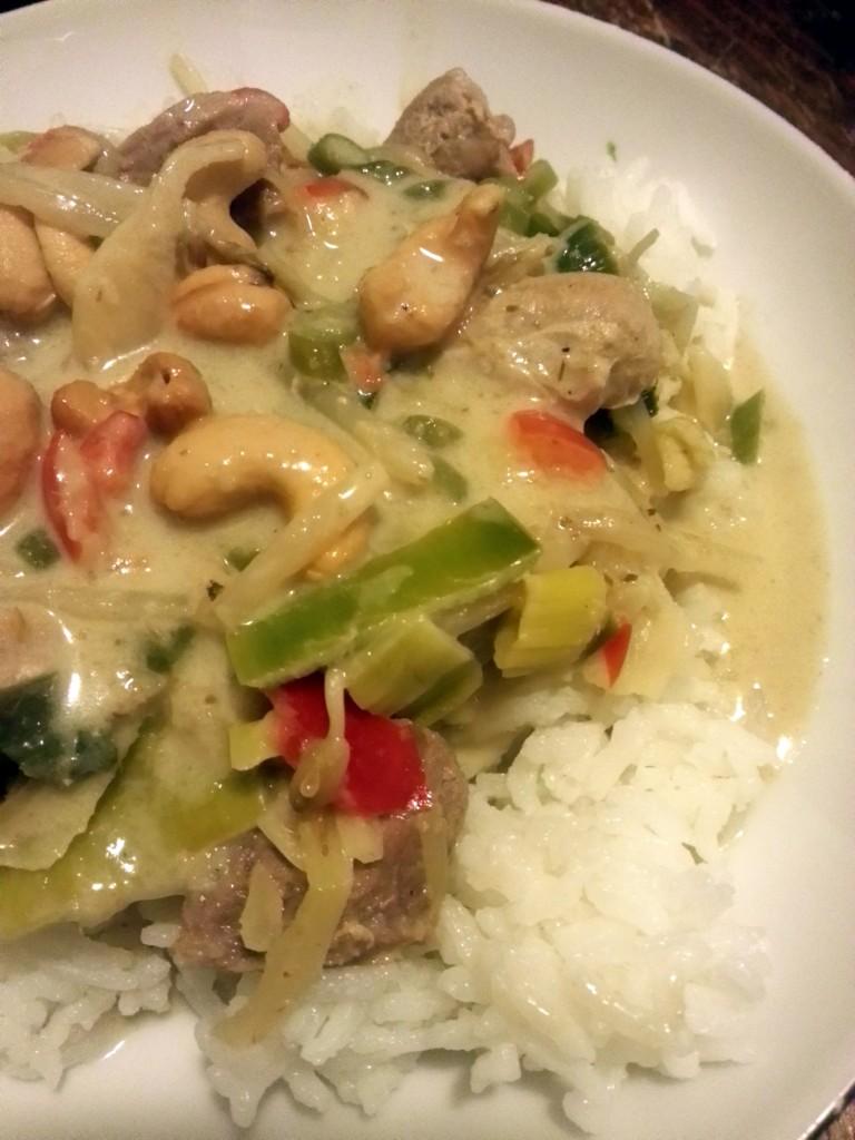 Groene curry met beef