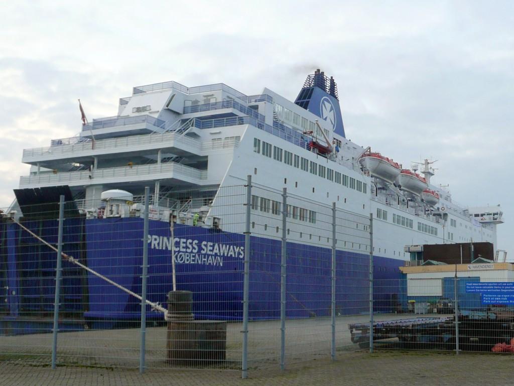 Het cruiseschip naar Newcastle