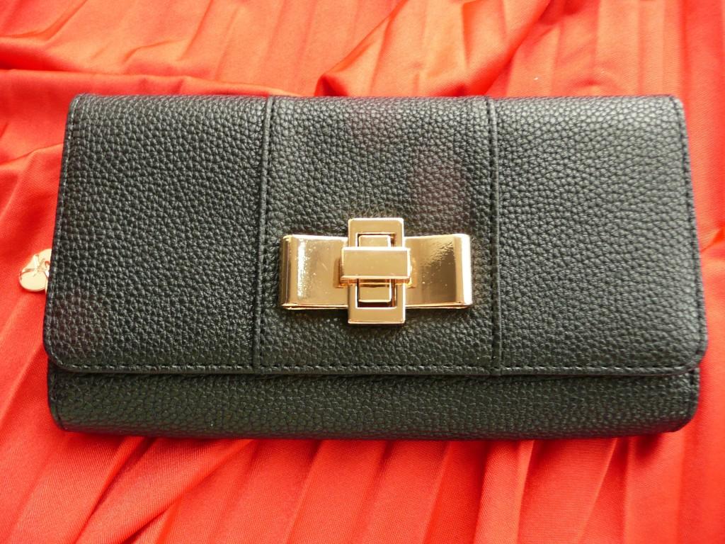 Simpele zwarte portemonnee