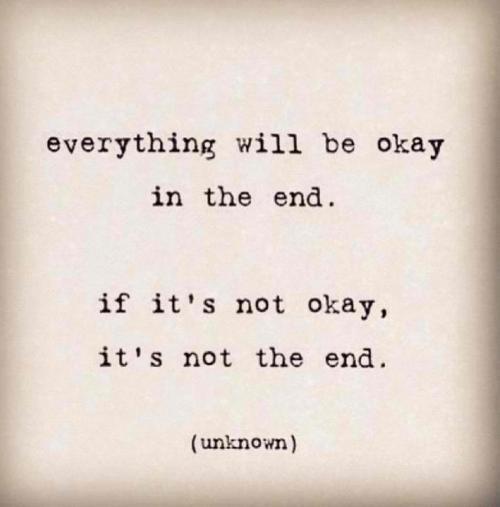 Uiteindelijk komt alles goed