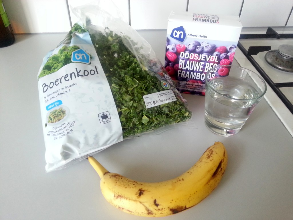 De ingrediënten voor de derde groene smoothie