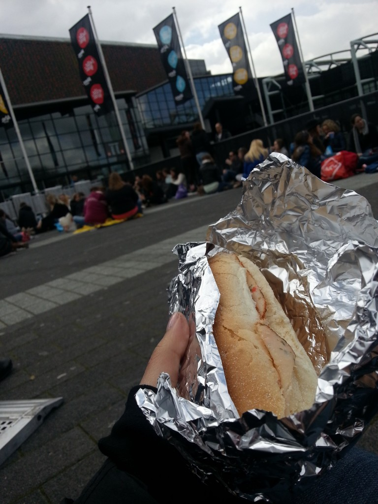 Picknicken in de wachtrij