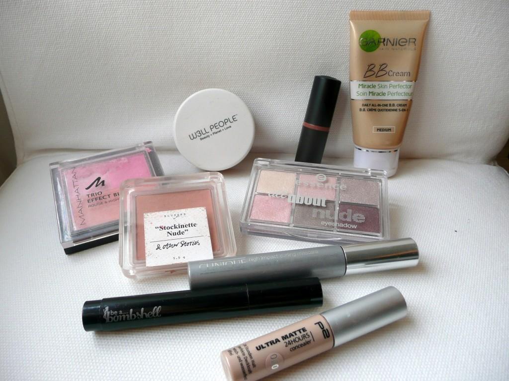 Alle gebruikte make-up voor de look